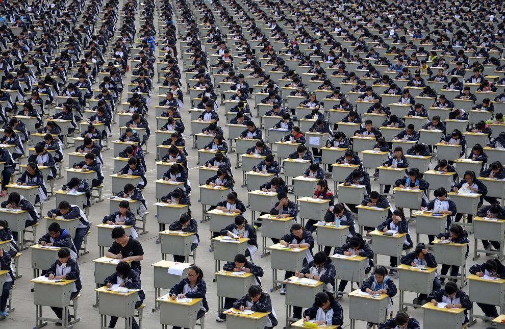 Экзамены в средней школе в провинции Шэньси