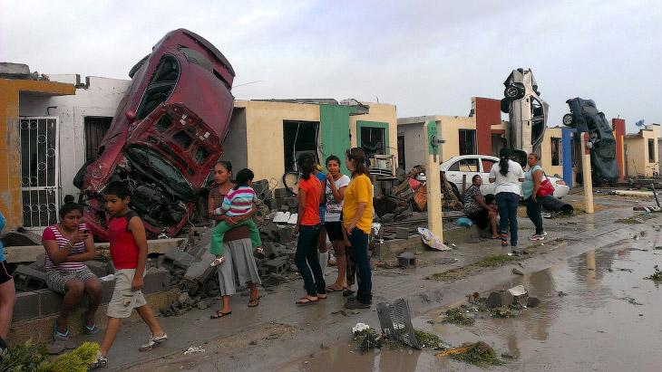 Успеть за 6 секунд: торнадо в Мексике