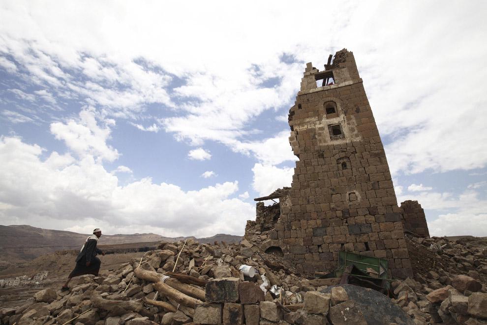 Разрушенный дом. Сана, Йемен