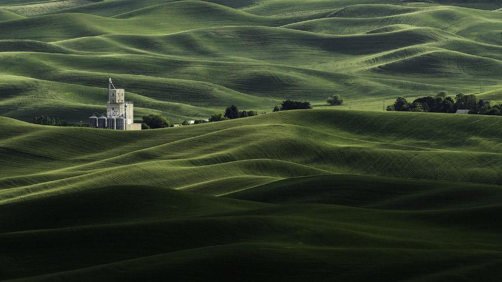 Текстуры полей в штате Вашингтон