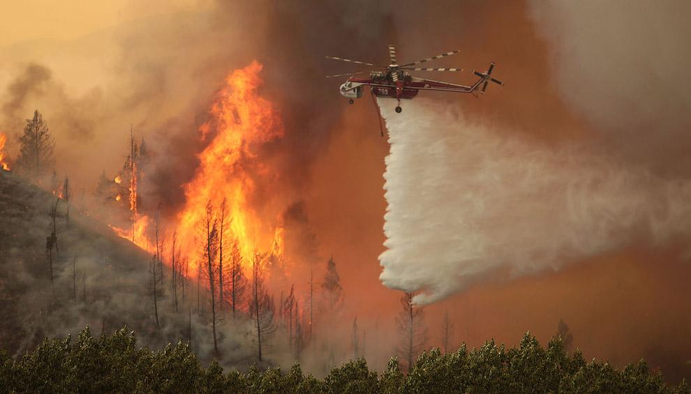Тушение лесного пожара в штате Айдахо
