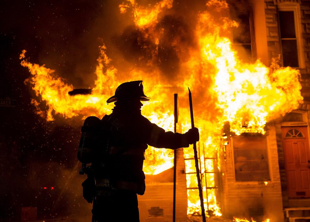Тушение пожара в штат Мэриленд