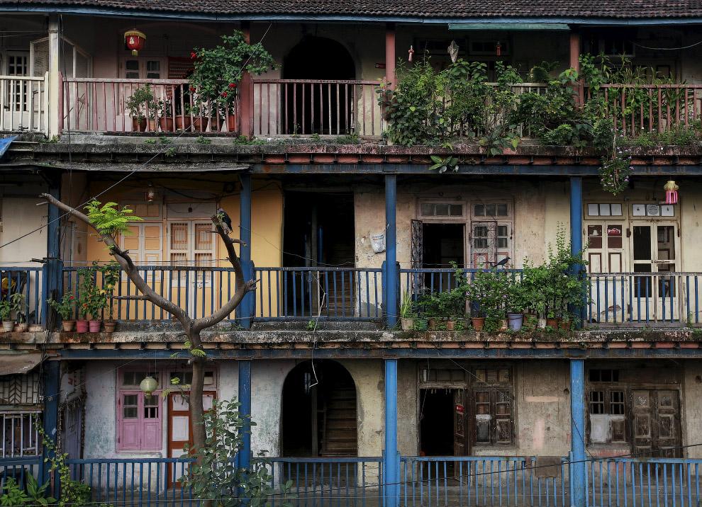 Старые дома в центре Мумбаи