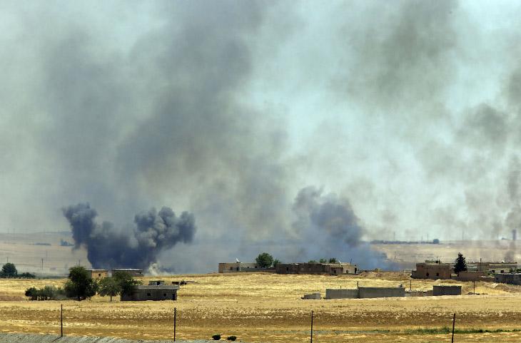 Вид с турецкой стороны в сторону Сирии
