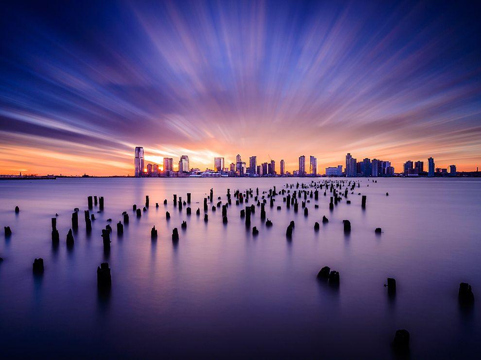 Закат над Джерси-Сити