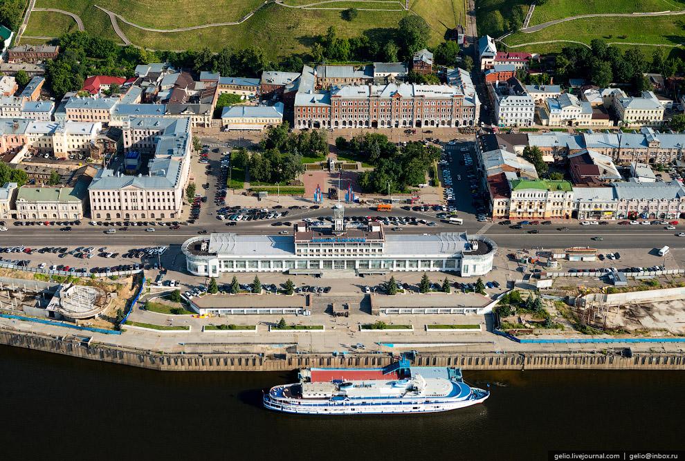 Нижегородский Речной Вокзал и Площадь Маркина