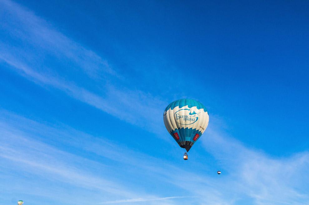 Полет воздушных шаров в Минске