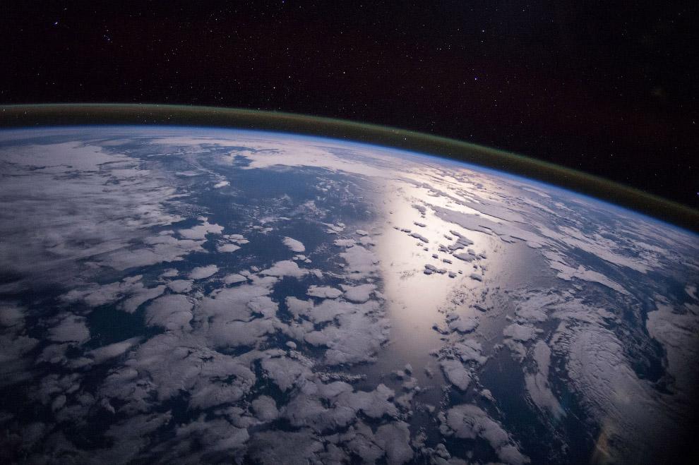 снимок Земли с борта Международной космической станции