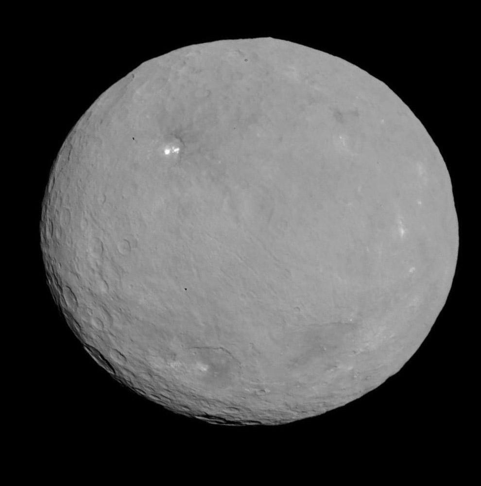 Карликовая планета Церера в поясе астероидов внутри Солнечной системы