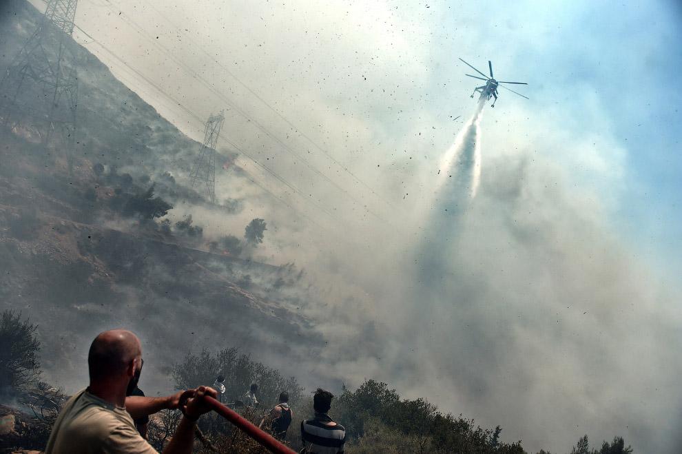 Пожарный вертолет, Афины