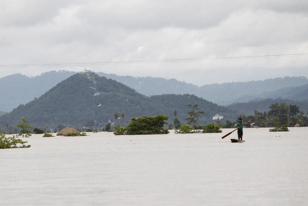 Еще недавно тут были рисовые поля, а теперь моря и океаны