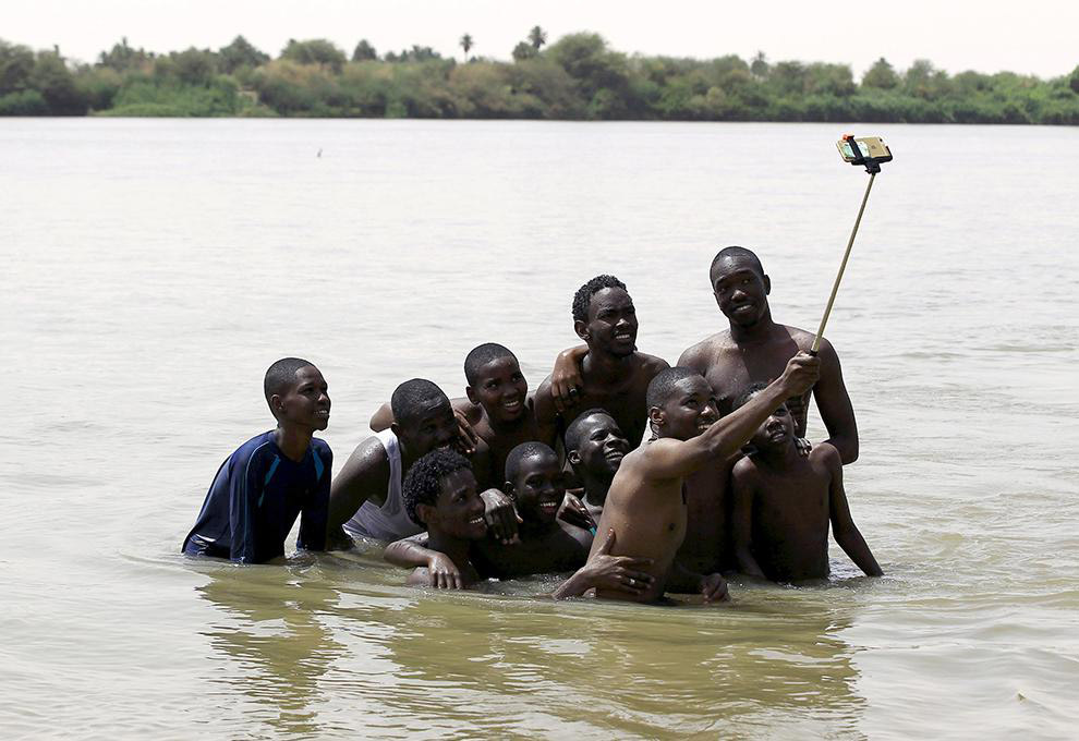 Селфи на реке Нил в Судане