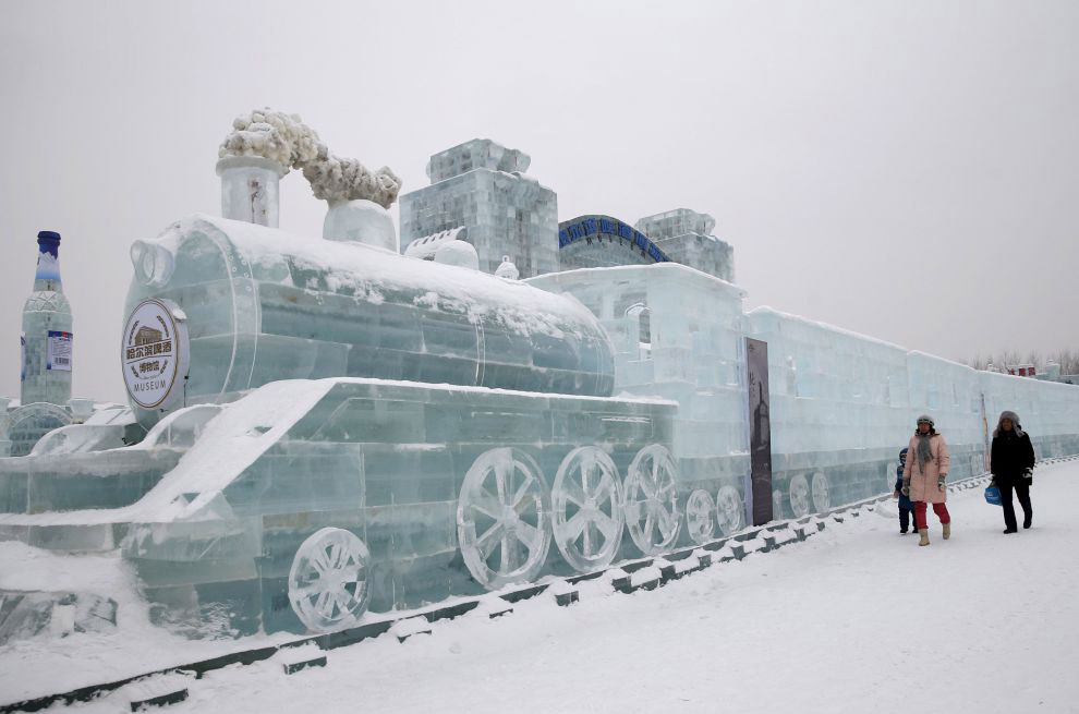 Фестиваль льда и снега в Харбине 2015