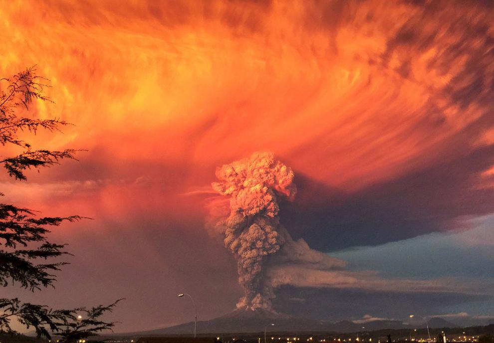 Активный вулкан Кальбуко в Андах на территории Чили
