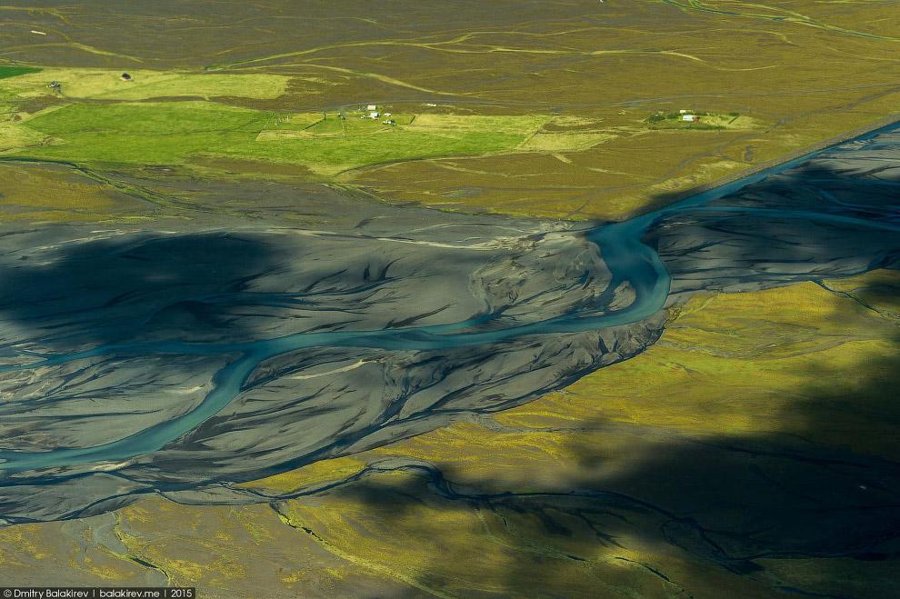 Исландия с самолета