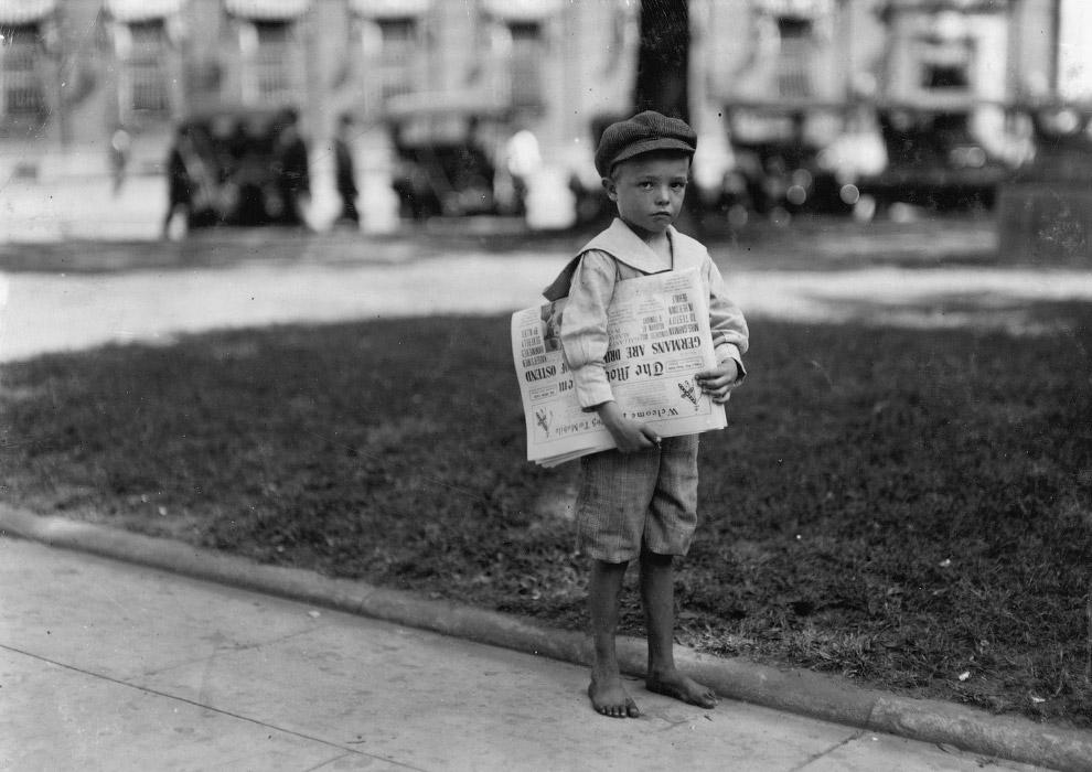 7-летний разносчик газет