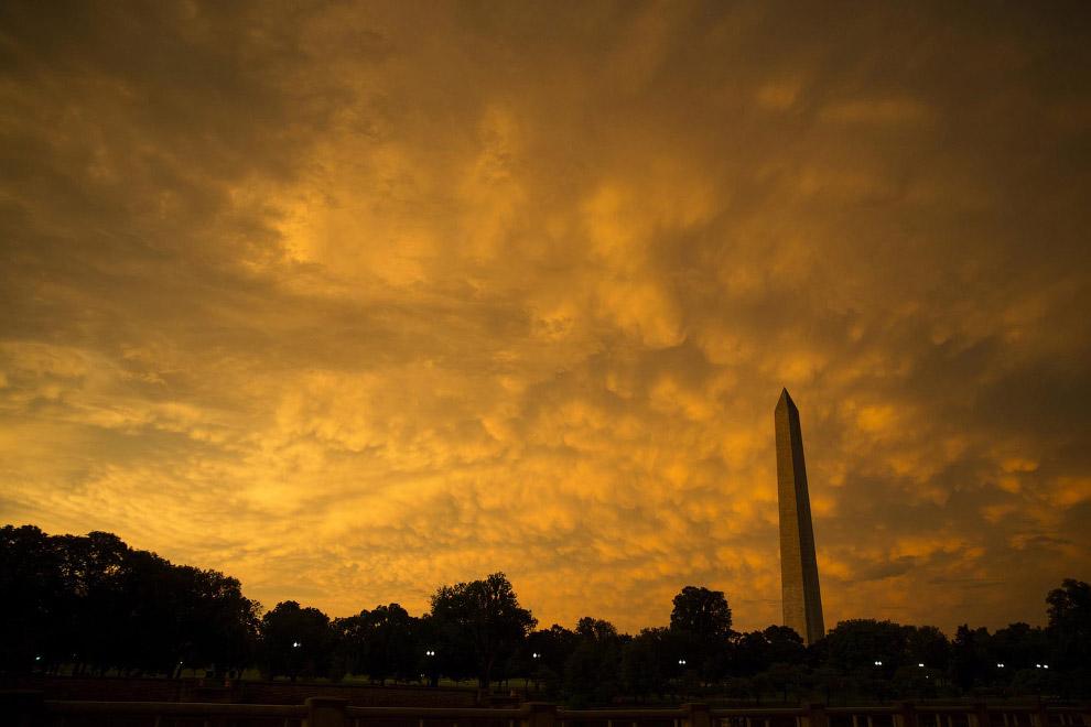 Закат в Вашингтоне, округ Колумбия