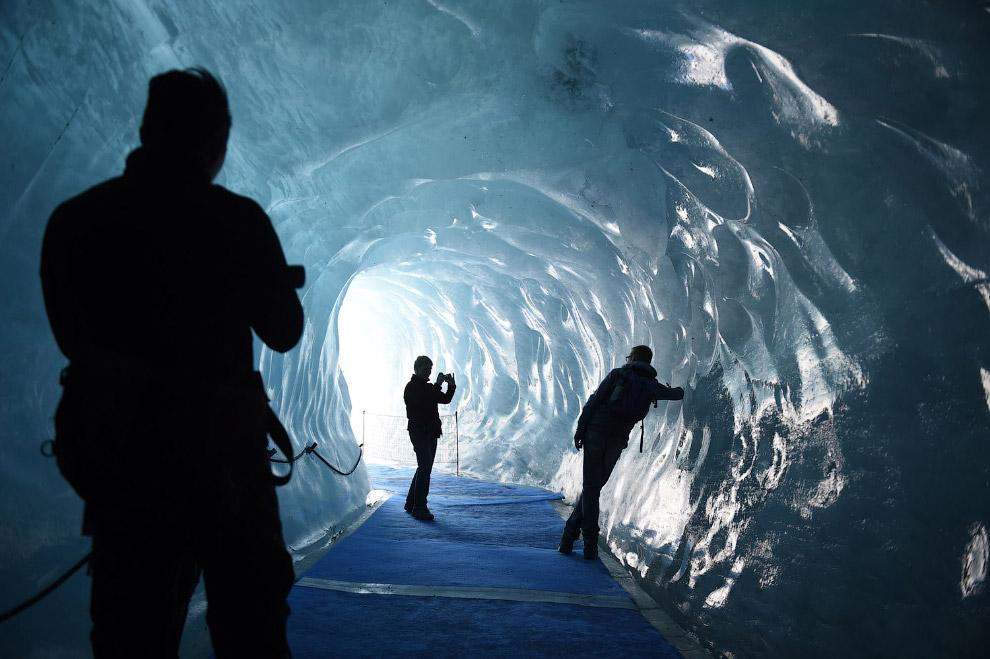 В поисках прохлады: ледник во Франции