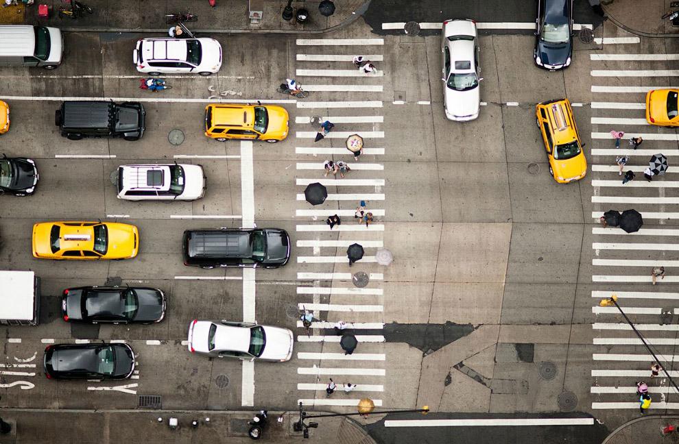 Такси и зонтики