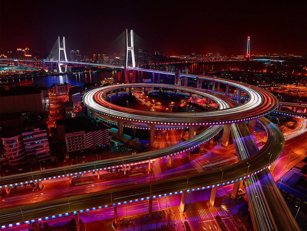 Наньпуский мост, Шанхай, Китай