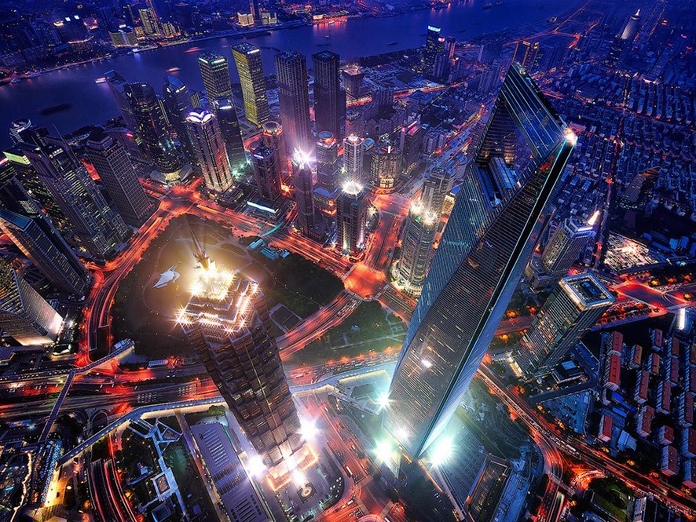 Вид с 128-этажной Шанхайской башни