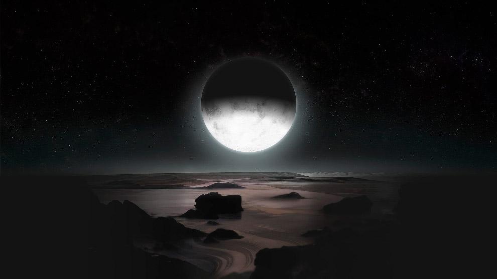 Так, по мнению художников, выглядит ночь на Плутоне