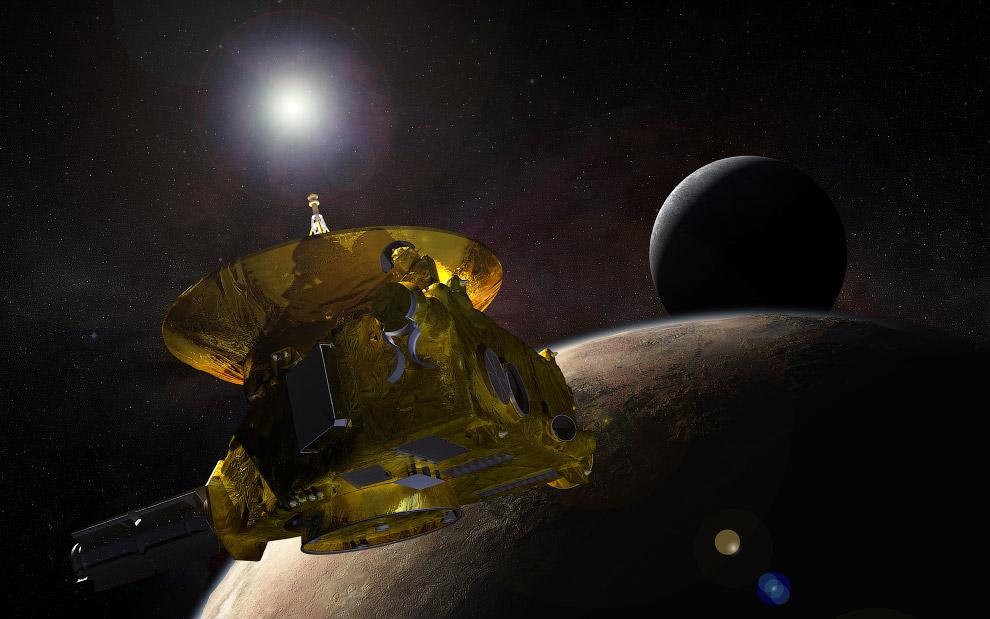Станция «Новые горизонты» подходит у Плутону и его крупнейшему спутнику Харон