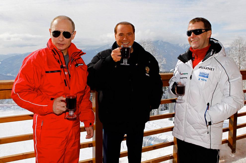 Путин, Берлускони и Медведев