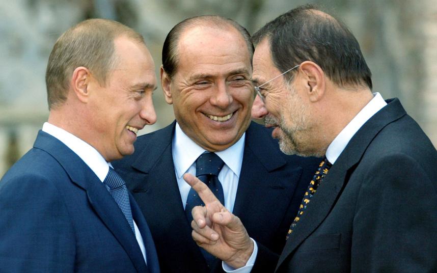 Хавьер Солана, Путин и Берлускони