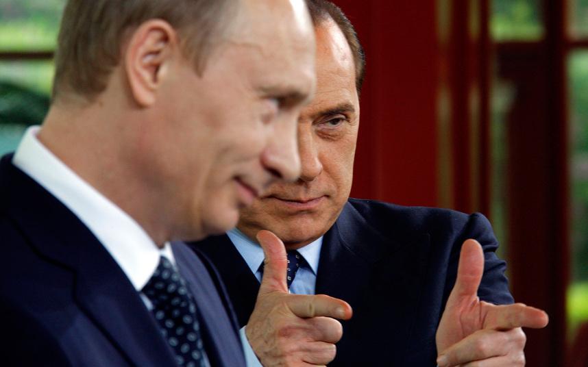 Путин и Берлускони