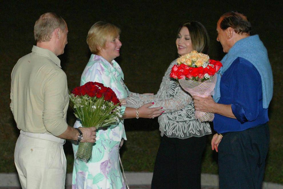 Владимир Путин, Людмила Путина, Сильвио Берлускони