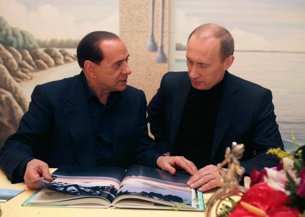 На вилле Берлускони в Порто-Ротондо