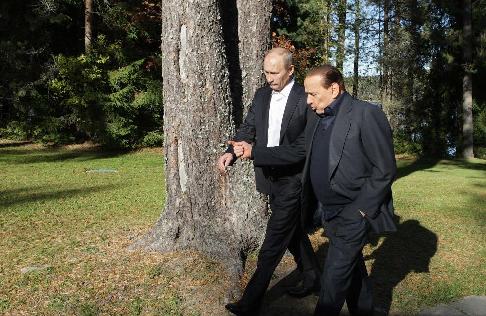 Настоящие друзья: Путин и Берлускони