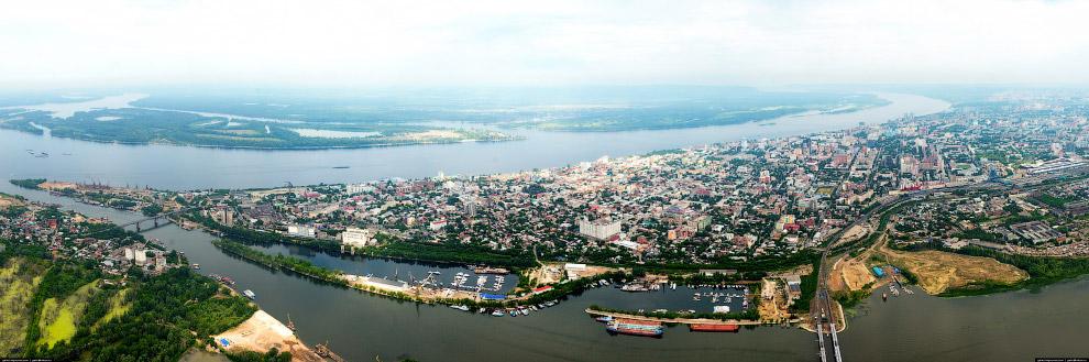 Панорама центра Самары