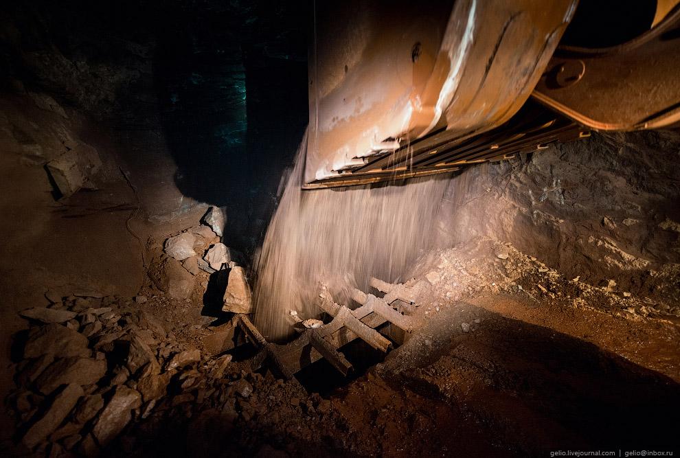 Сброс руды в рудоперепуск