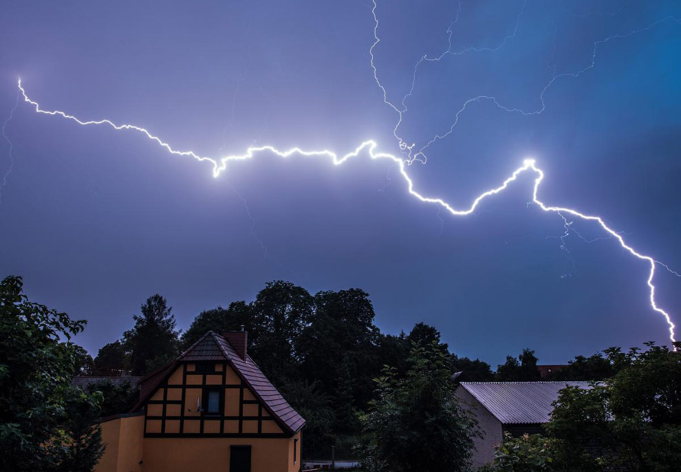 Молнии, Бранденбург, Германия