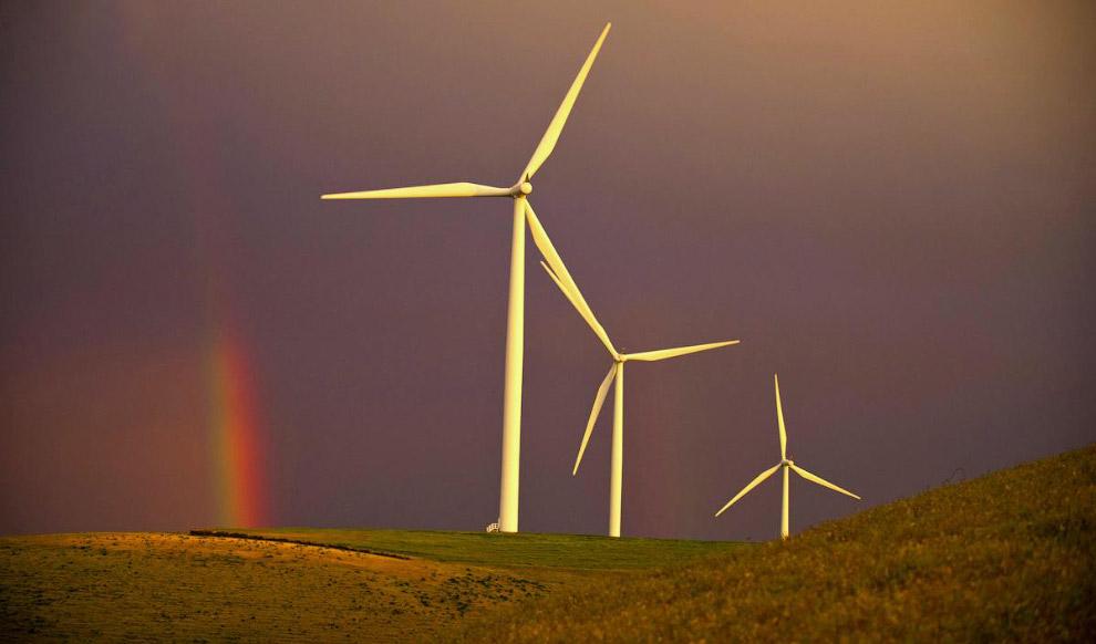 Радуга и ветряки