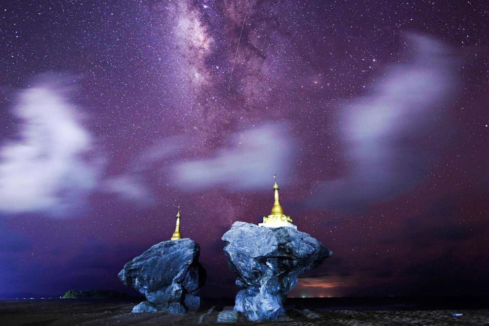 Млечный Путь и небо над Мьянмой