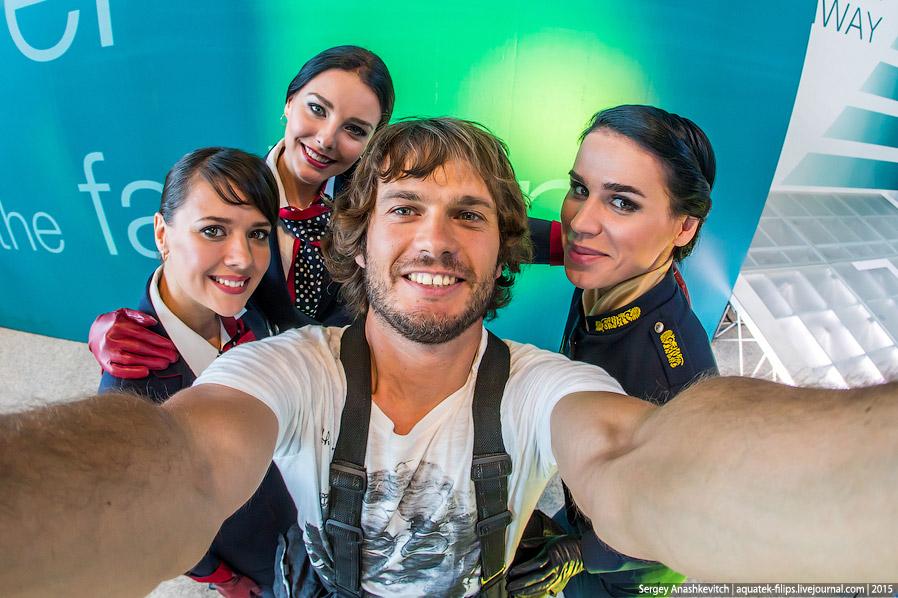 Парад стюардесс в Домодедово