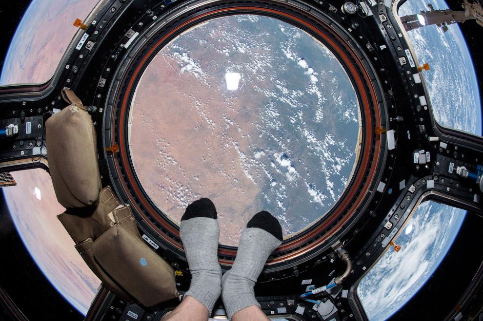 Вид на Землю с на борта Международной космической станции