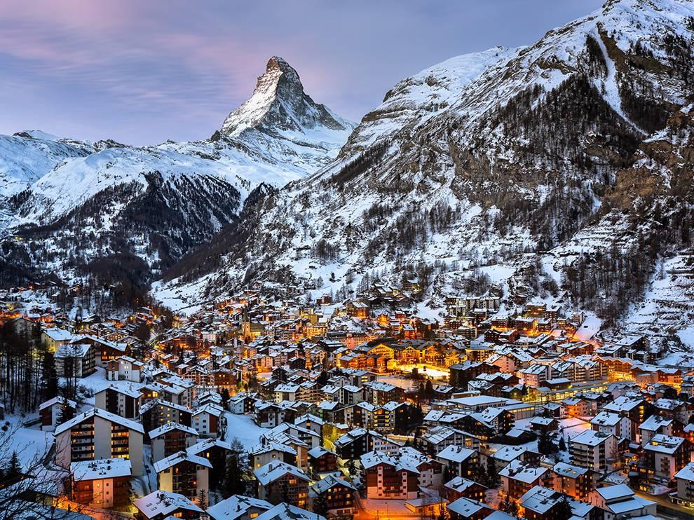 Вершина Маттерхорн в Швейцарии