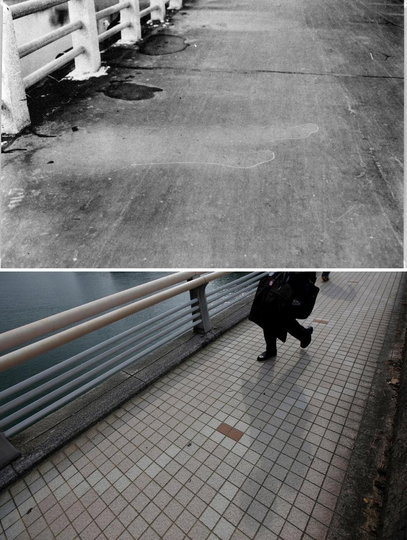 Хиросима в октябре-ноябре 1945 года и то же место 29 июля 2015