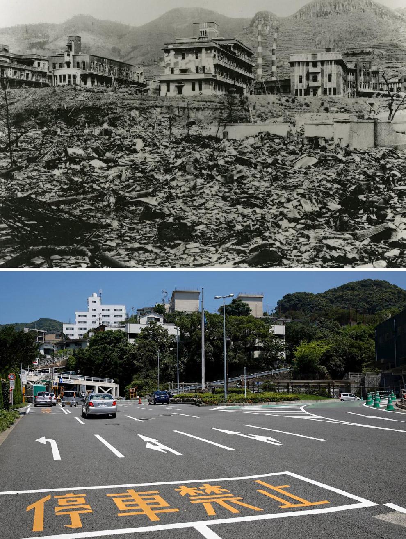 Нагасаки 9 августа 1945 года и 31 июля 2015