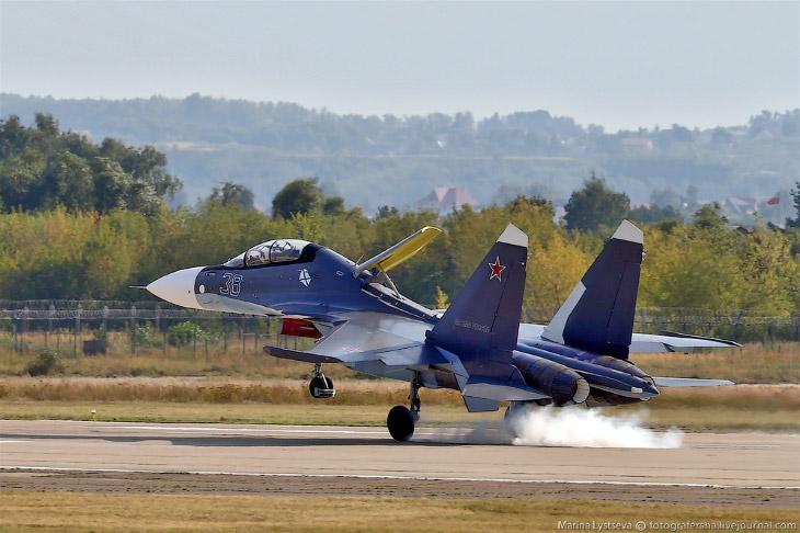 Су-30СМ, посадка