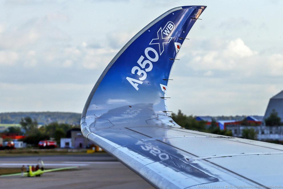 Самая красивая законцовка крыла - у А350