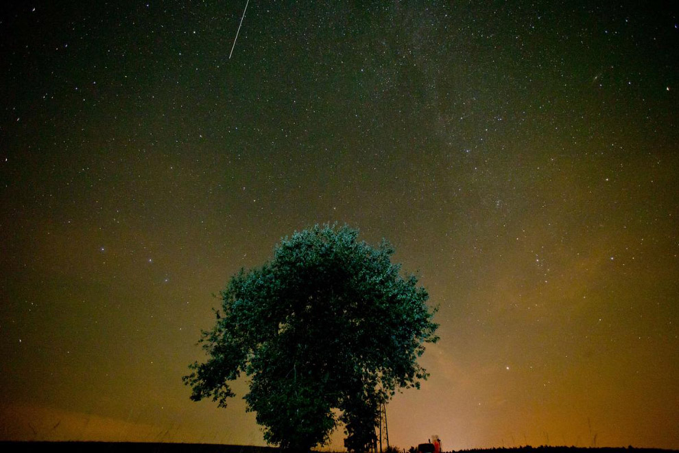 Звездопад или метеорный поток Персеиды в Германии