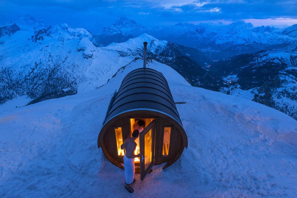 Сауна на высоте 2 800 метров в самом сердце Доломитовых Альп
