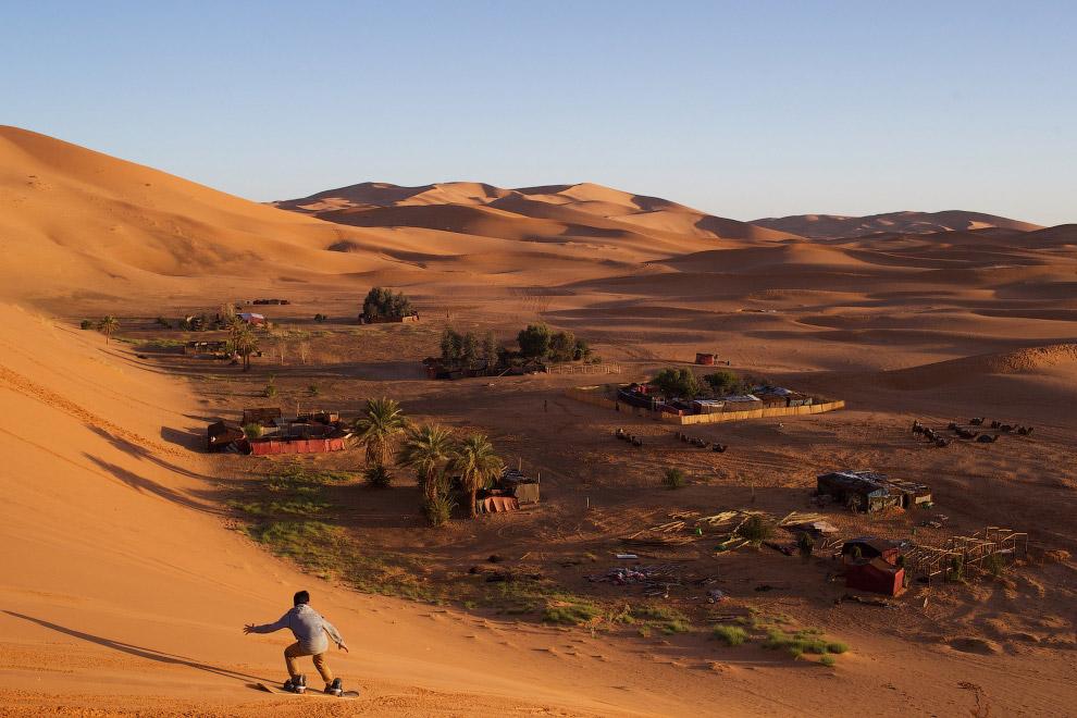 Серфинг на песчаных дюнах