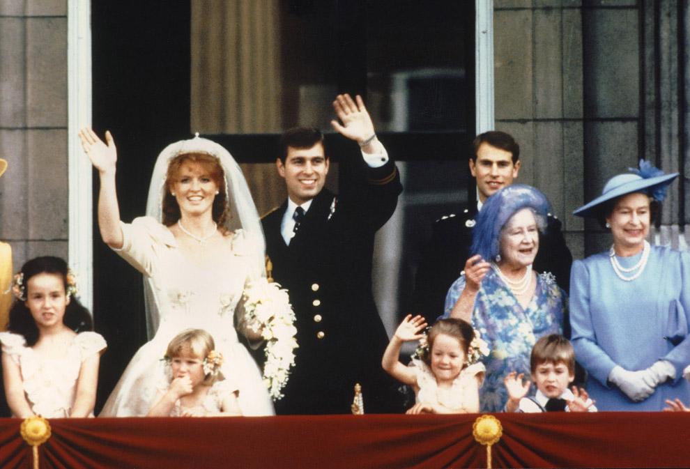 Принц Эндрю и его невеста Сара Фергюсон, герцогиня Йоркская