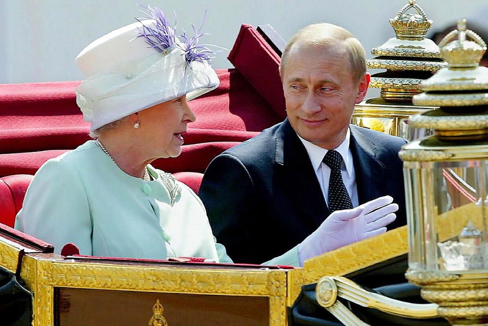 Королева и Владимир Путин
